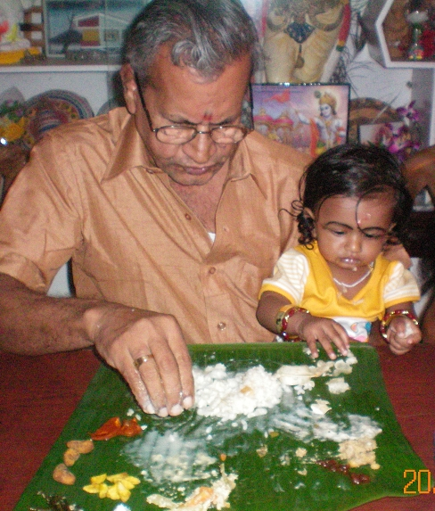 sriram with paternal grandpa sivasankaran p